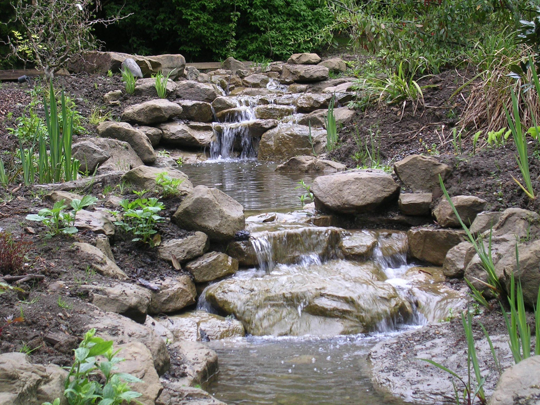 Large sandstone stream