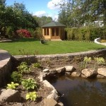 Summer House, Pond and Staggered Lawn
